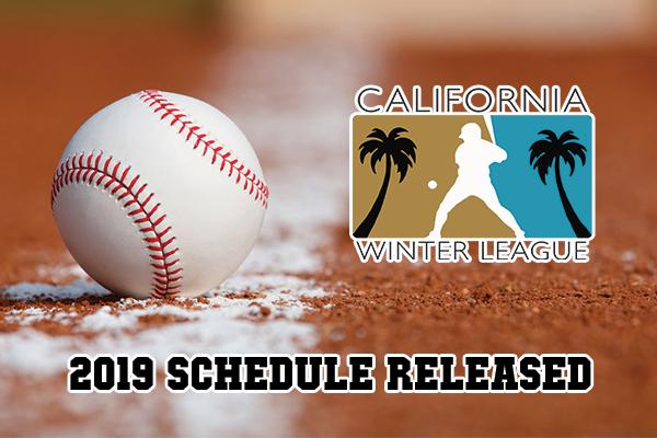 2019 CALIFORNIA WINTER LEAGUE SCHEDULE RELEASED