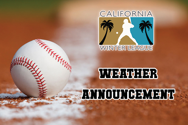Valentine's Day Washout Anticipated, All Thursday Games Canceled